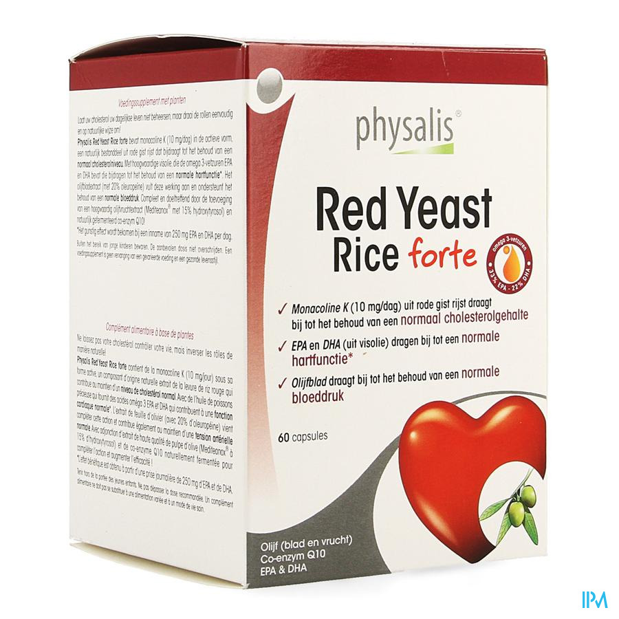 Physalis Red Yeast Rice Forte Caps 60
