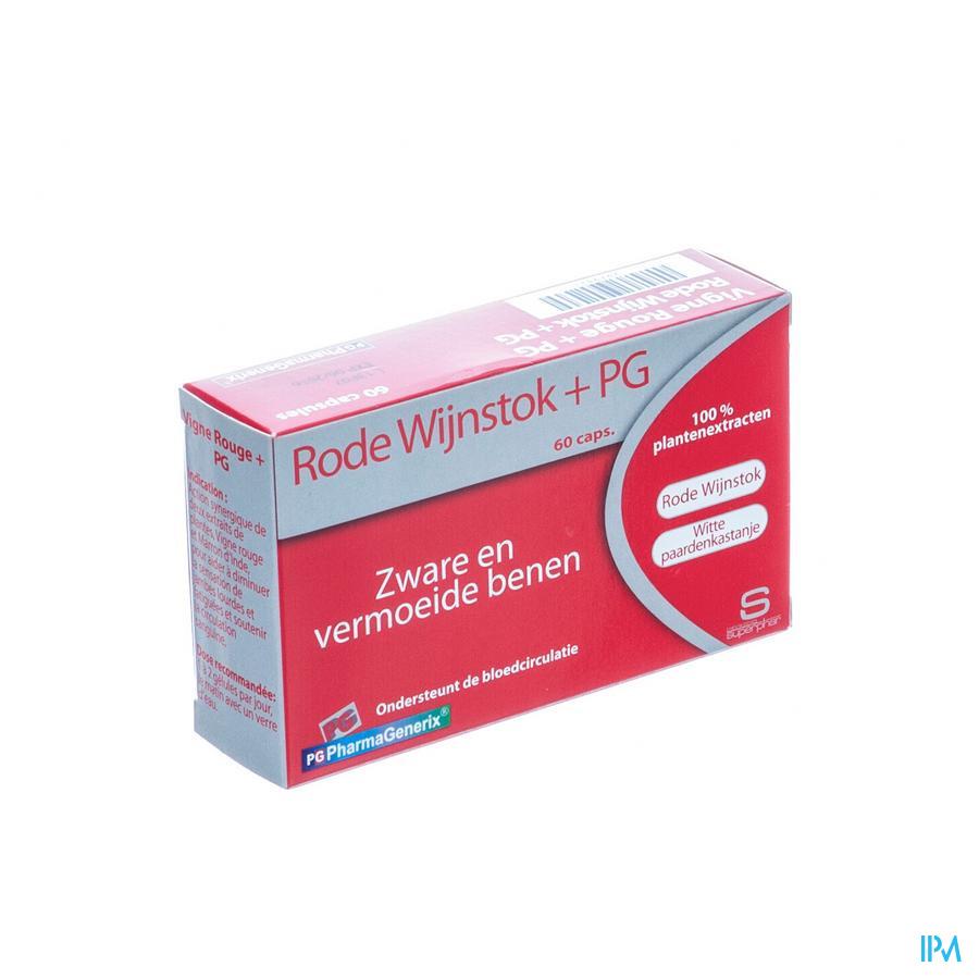 Rode Wijnstok+ Pg Pharmagenerix Blister Caps 60