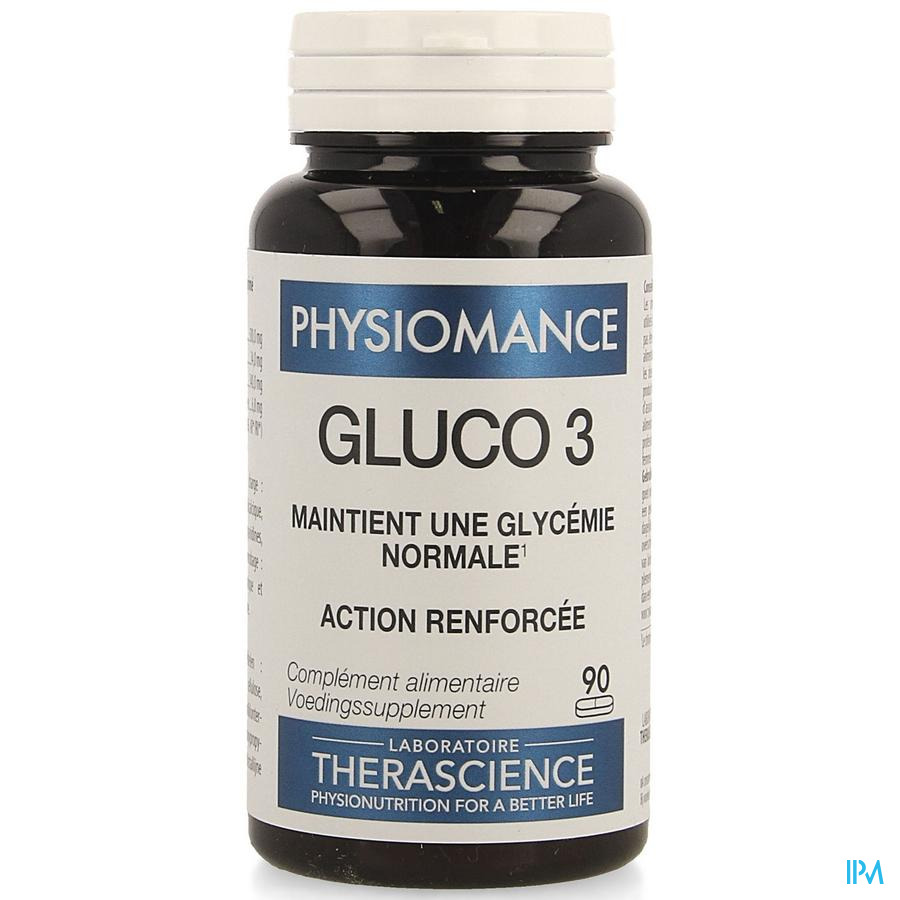 Gluco 3 Comp 90 Physiomance Phy318b