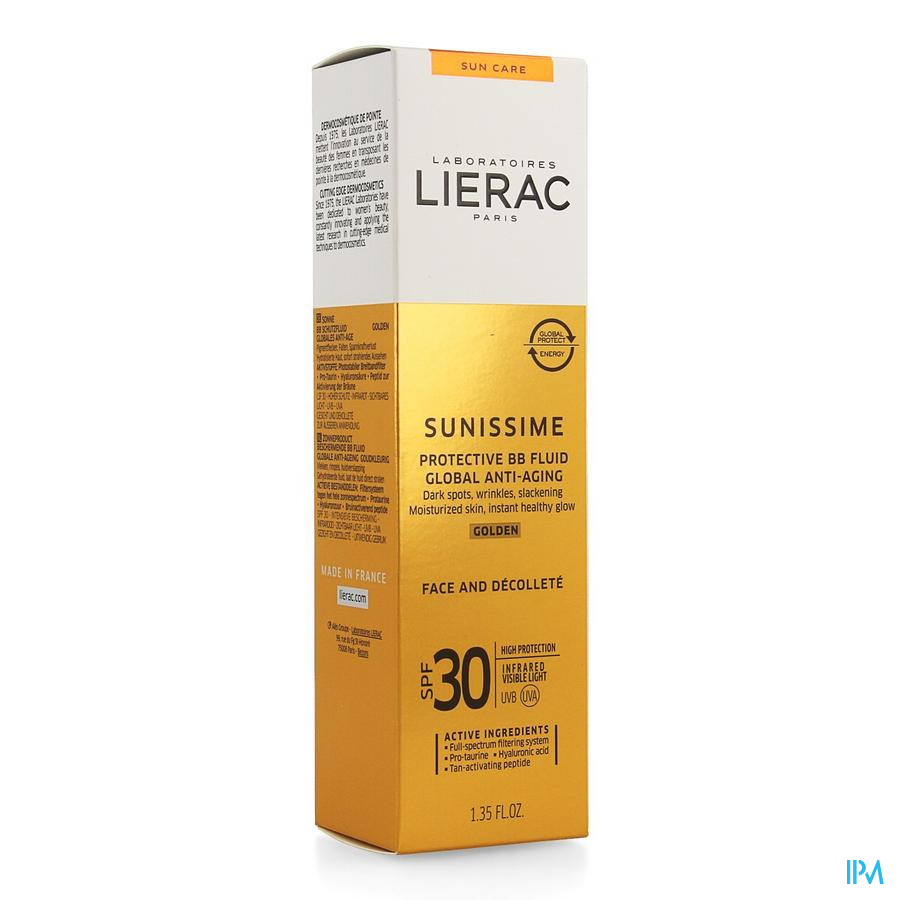 Lierac Sunissime Bb Fluid Dore Visage Ip30 Tb 40ml