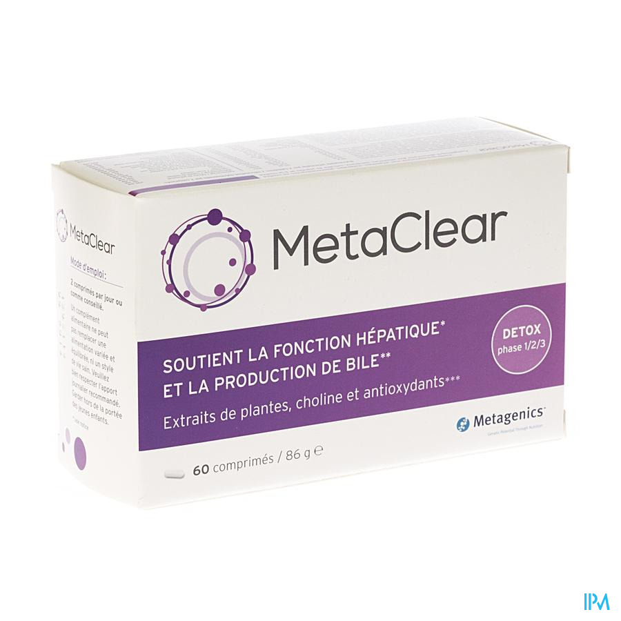 Metaclear Tabl 60 Metagenics