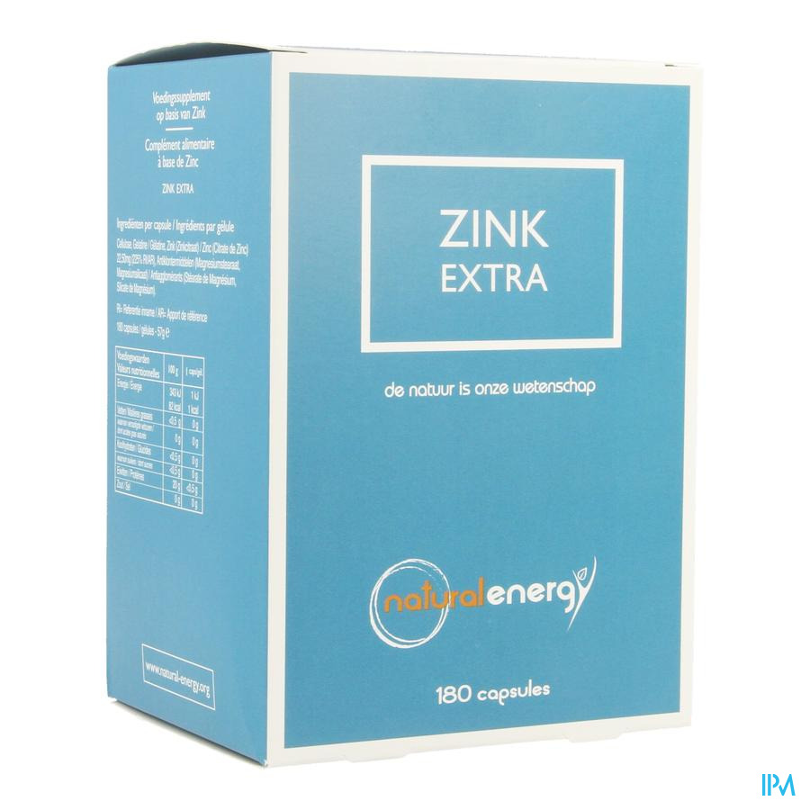Zink Extra Natural Energy Caps 180