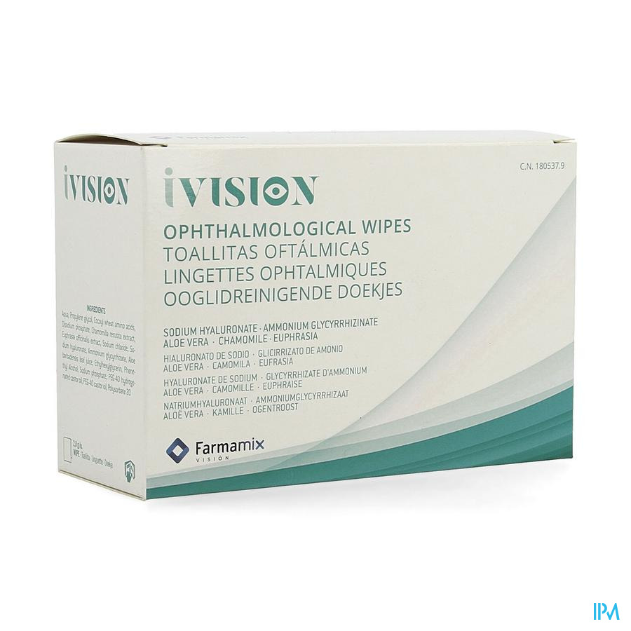 Ivision Lingettes Ophtalmiques 20