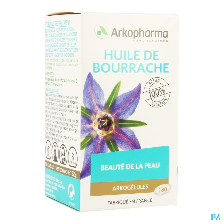 Arkogelules Huile De Bourrache 180