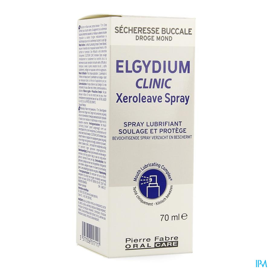 Elgydium Clinic Xeroleave Bouche Seche Spray 70ml