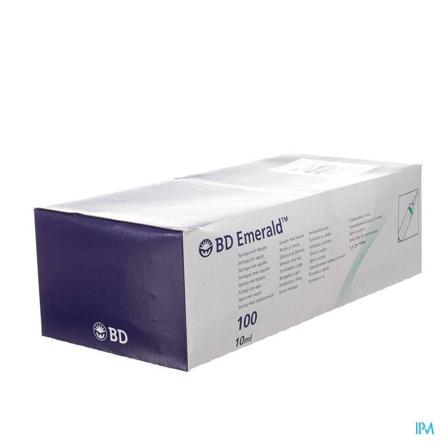 Bd Emerald Seringue 10ml+aig.21g 1 1/2 100 307737