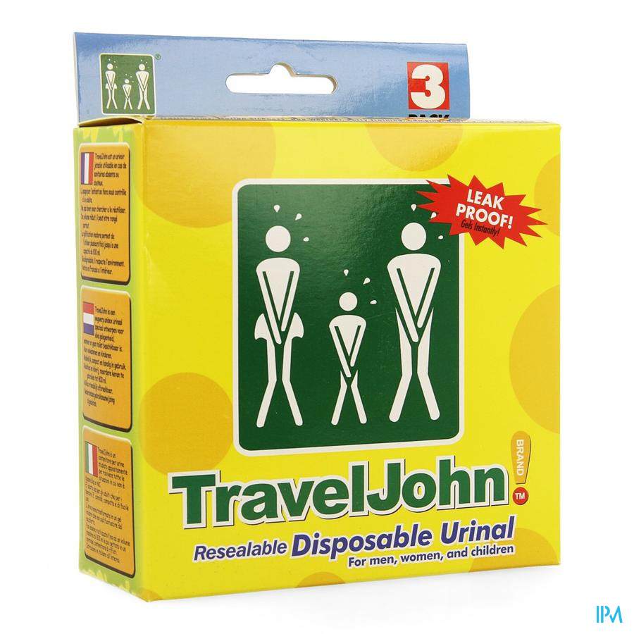 Travel John Urinaal 3x800ml