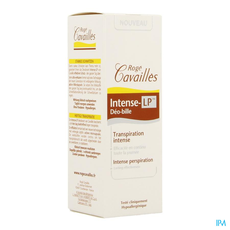 Roge Cavailles Deo Roll-on Intens Verl. Vrijg.40ml
