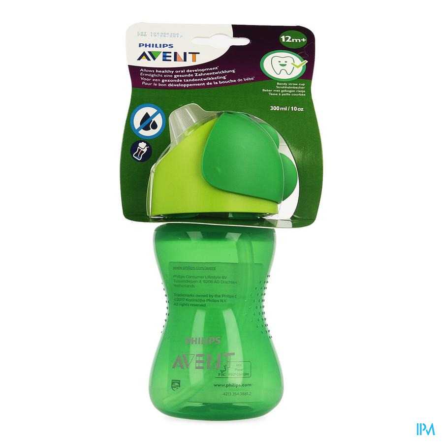 Philips Avent Drinkbeker Rietje Boy Groen 300ml