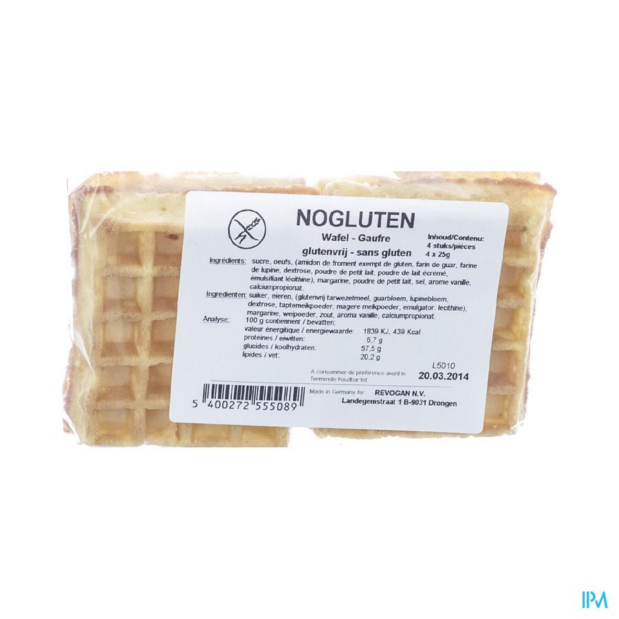 Nogluten Softwafel Glutenvrij 4x25g 5508