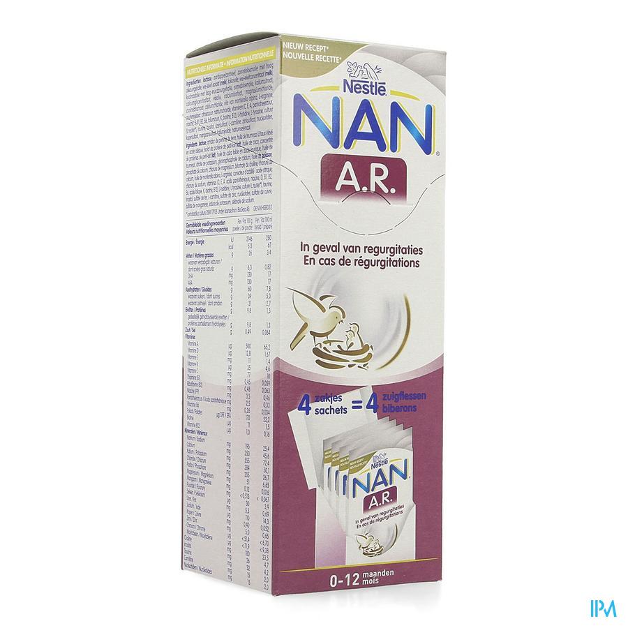 Nan Ar 0-12m Lait Poudre Nf 4x26,2g