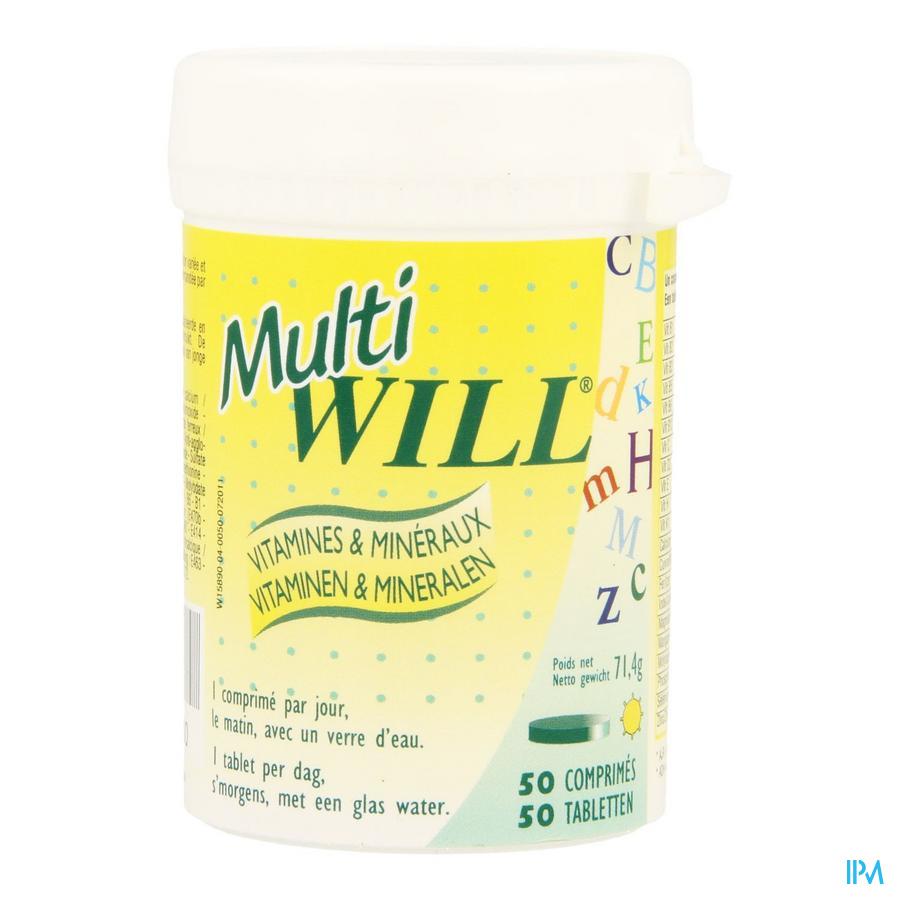 Multi Will Multivit + Mineralen Comp 50