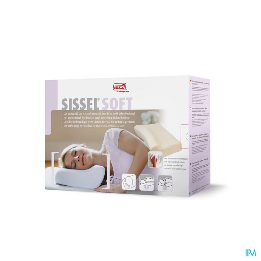 Sissel Soft Hoofdkussen Visco-elast+overtr.fluweel