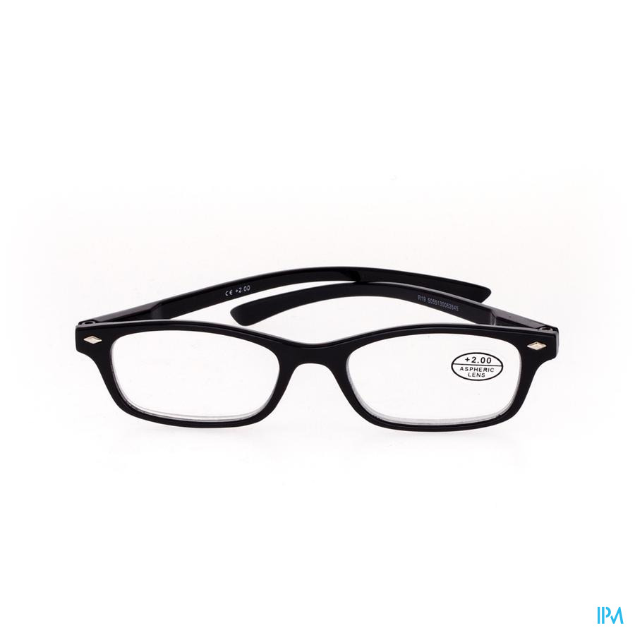 Pharmaglasses Leesbril Diop.+2.00 Black