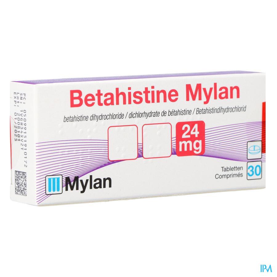 Betahistine Mylan 24mg Comp 30 X 24mg