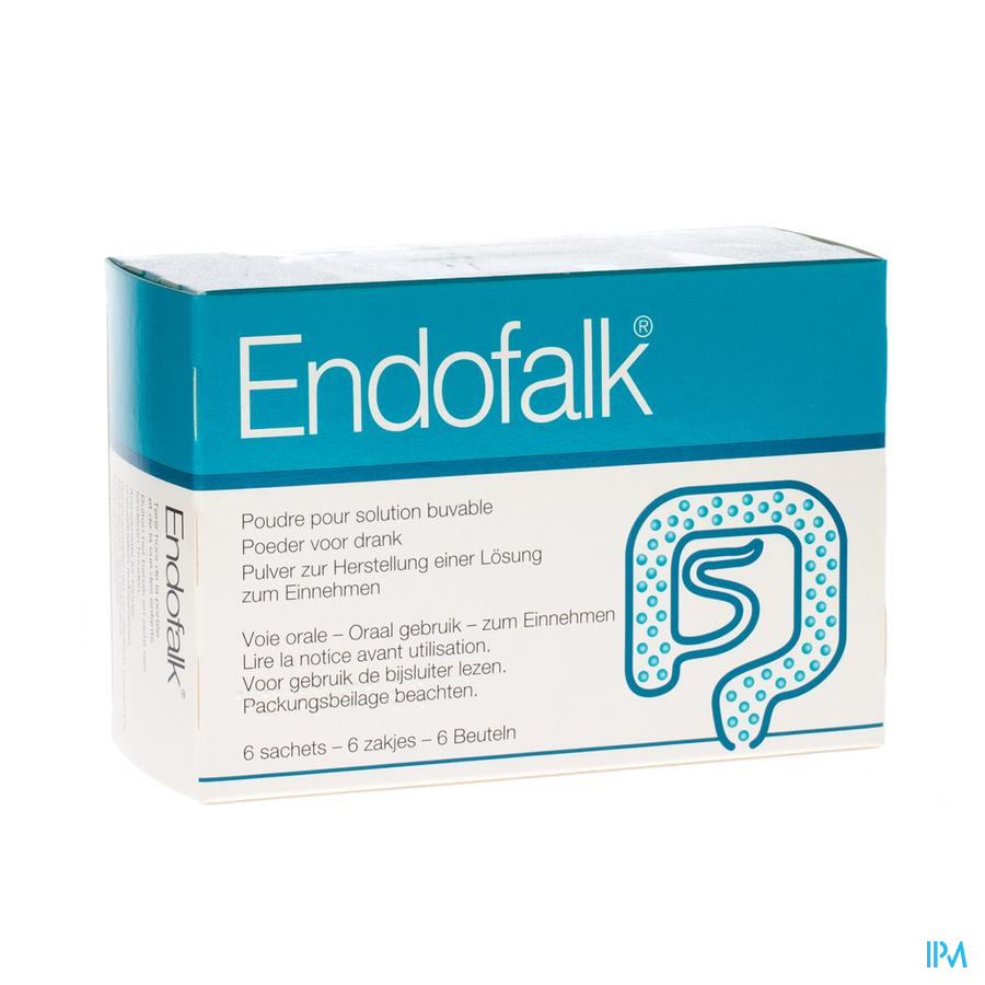 Endofalk Pulv Solution Buvable - 6 Sachets Zakjes