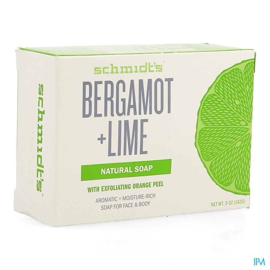 Schmidt's Barsoap Bergamot & Lime 142g