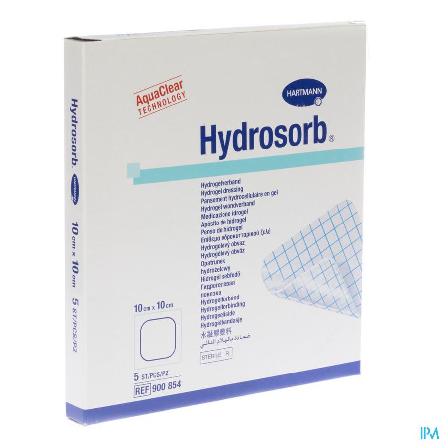 Hydrosorb Transp Ster 10,0x10,0cm 5 9008541
