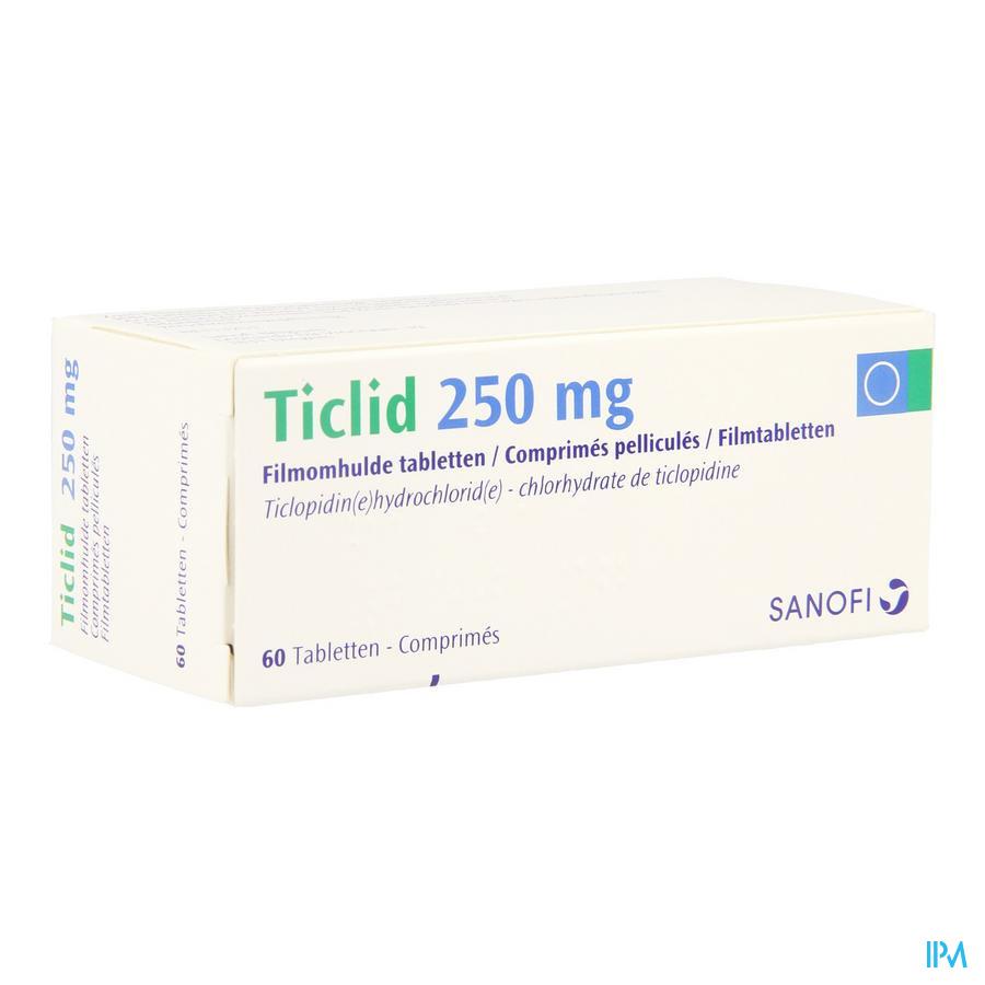 Ticlid Drag 60 X 250mg