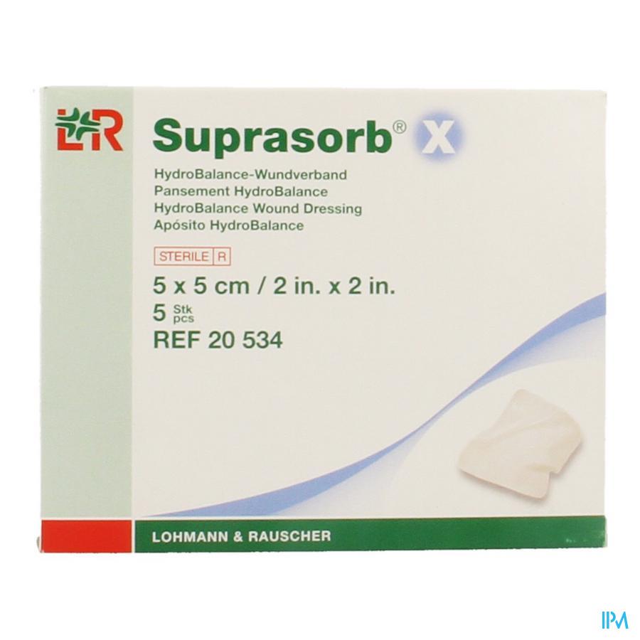 Suprasorb X Cp Cellulose Ster 5x 5cm 5 20534