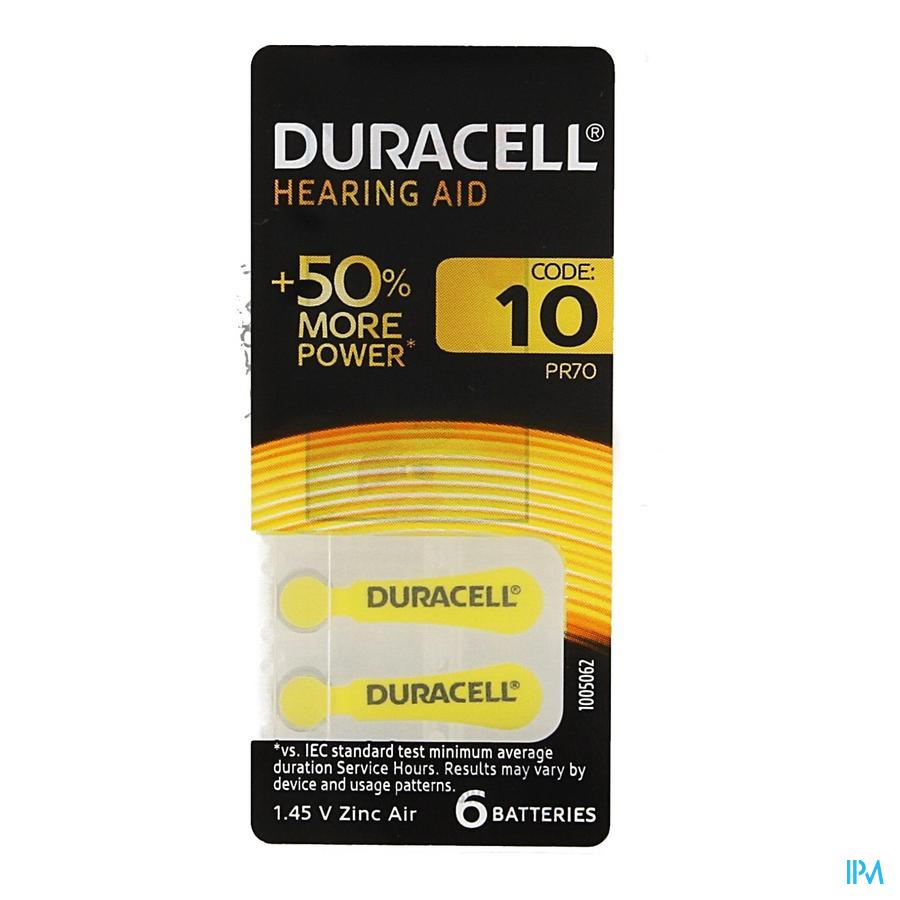 Duracell Easytab Hoorbatterij Da10 6 Geel