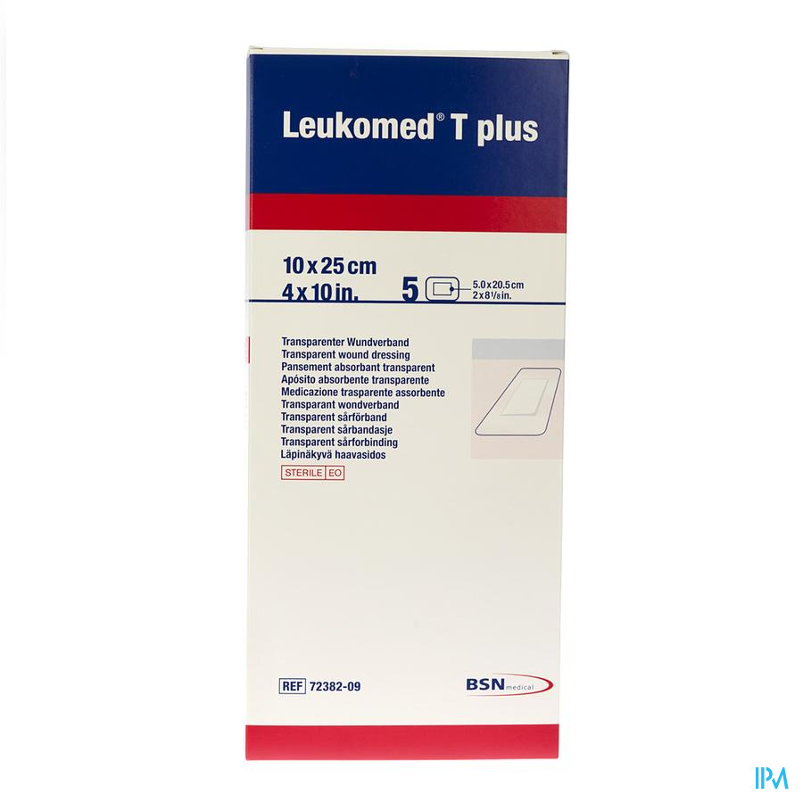 Leukomed T Plus Verb Ster 10,0cmx25cm 5 7238209