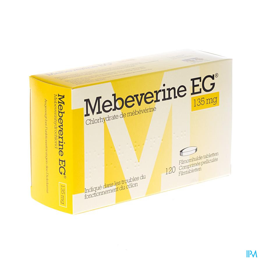Mebeverine Eg 135mg Comp Pell 120 X 135mg