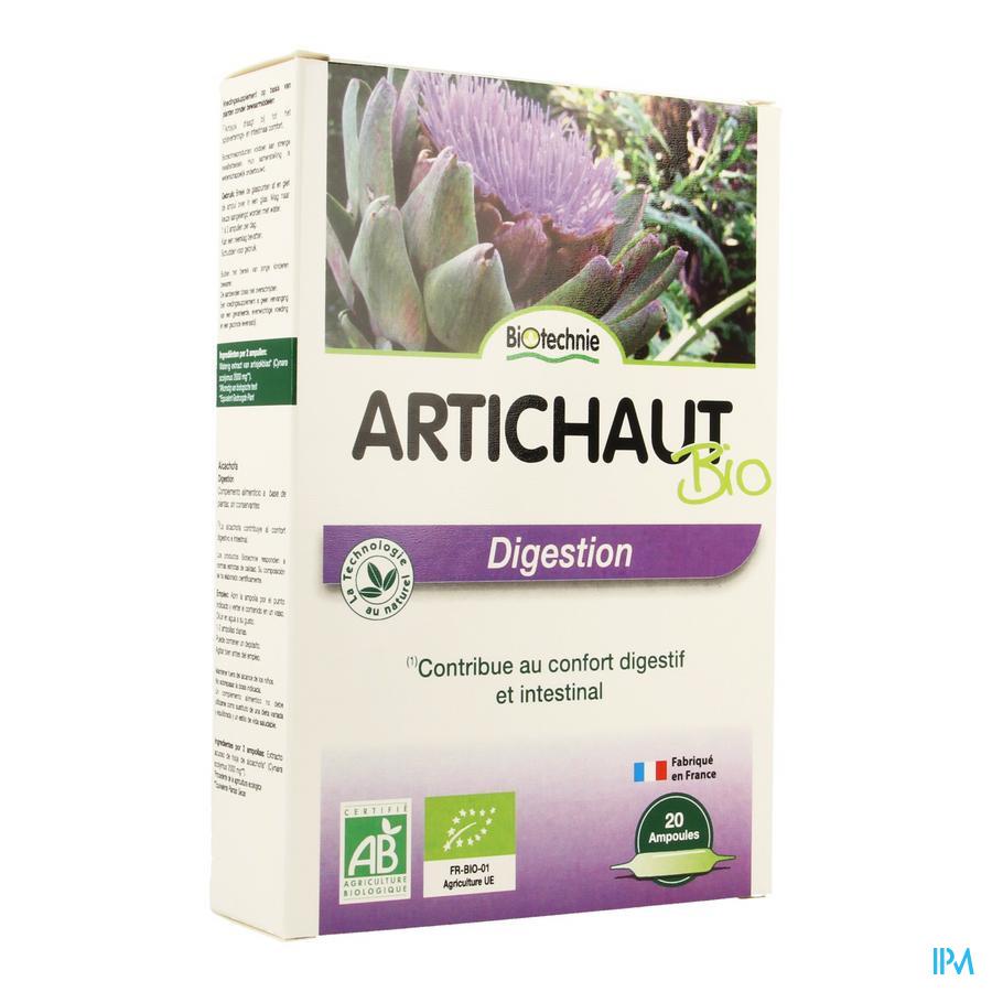 Artichaut Bio Amp 20x10ml Biotechnie