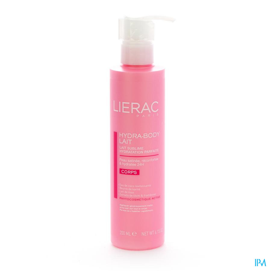 Lierac Hydra Body Lichaamsmelk Pompfl 200ml