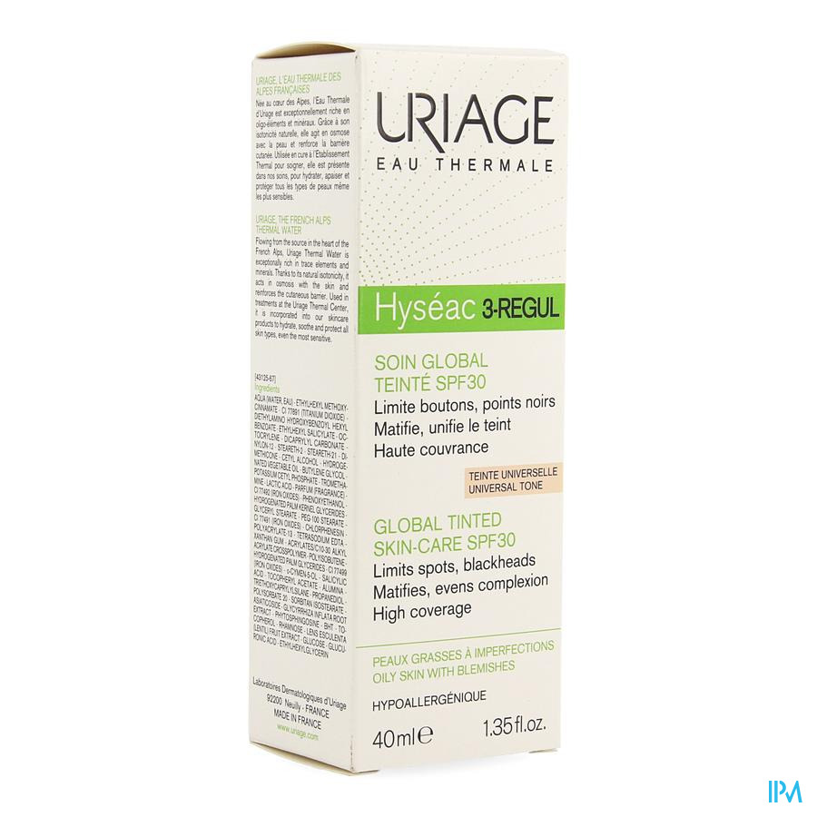Uriage Hyseac 3-regul Soin Global Teinte Ip30 40ml
