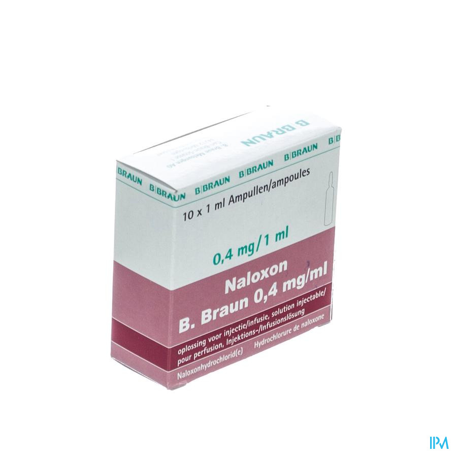 Naloxon B. Braun 0,4mg/ml Amp Sol Inj 10 X 1ml