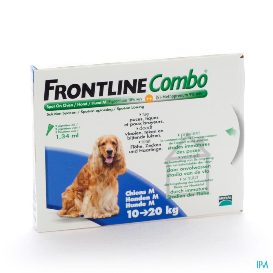 Frontline Combo Spot On Hond Pip 3x1,34ml 10-20kg