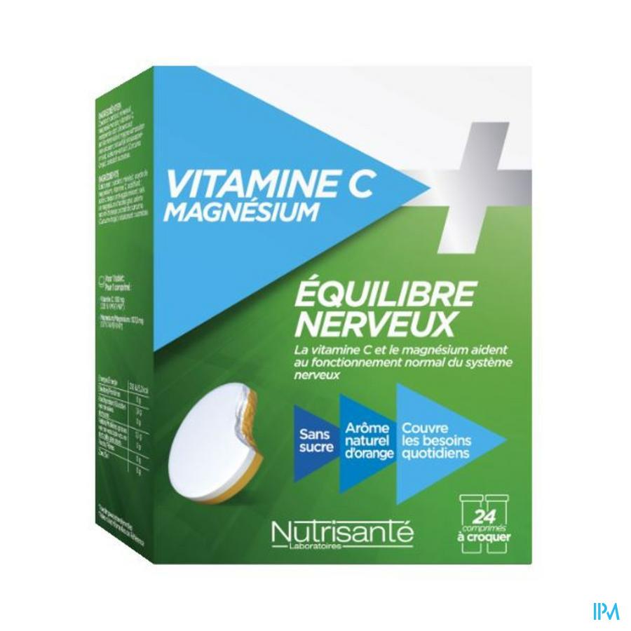 Vitamine C+magnesium Kauwtabl Tube 2x12