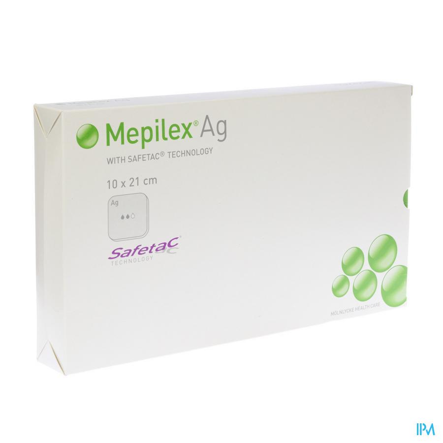 Mepilex Ag Verband Steriel 10,0x21,0cm 5 287221