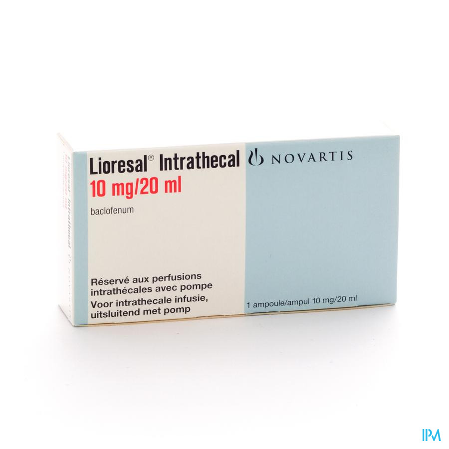 Lioresal Intrathecal Amp 10mg/20ml