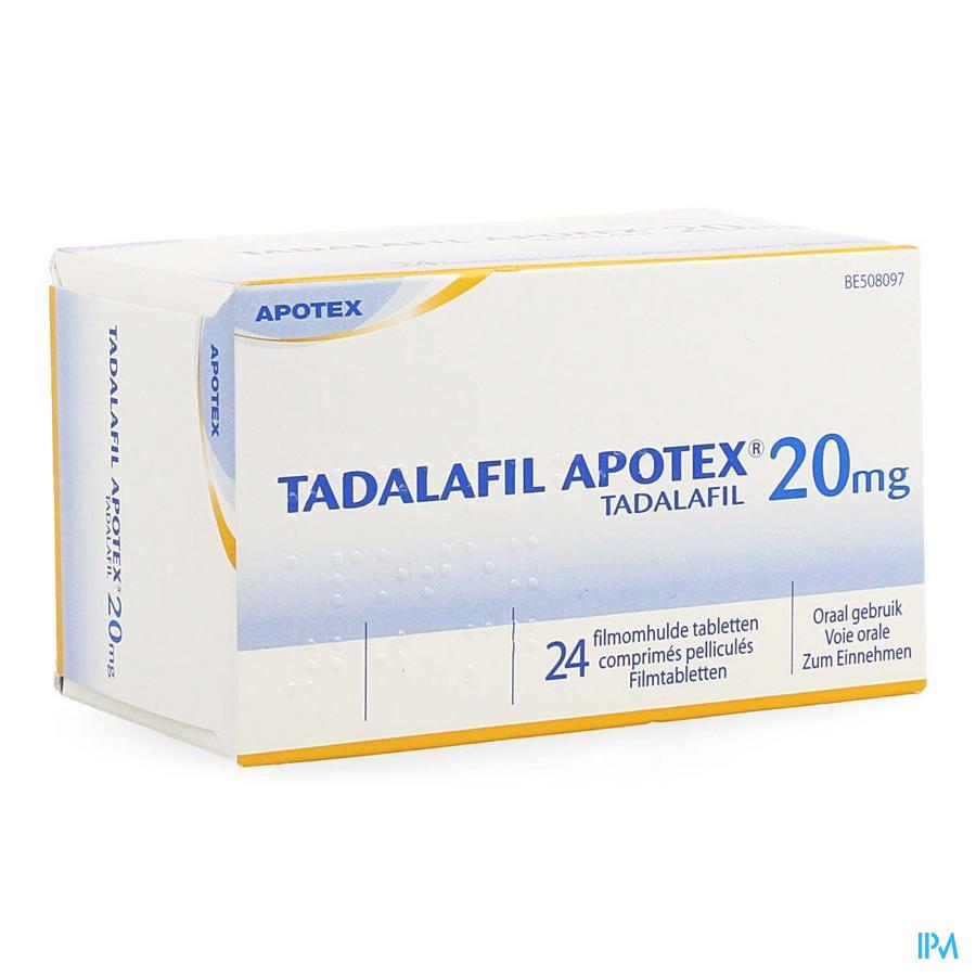 Tadalafil Apotex 20mg Filmomh Tabl 24