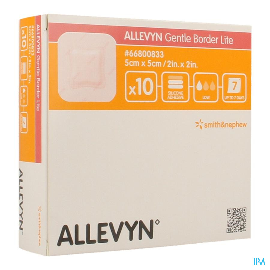 Allevyn Gentle Border Lite 5,0x 5,0cm 10 66800833 - Smith Nephew