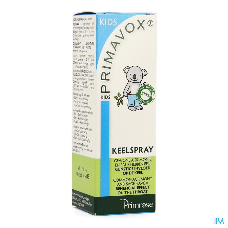 Primavox Kids Spray Gorge 10 ml