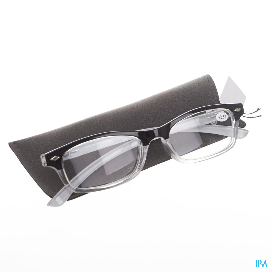 Pharmaglasses Leesbril Diop.+2.50 Grey