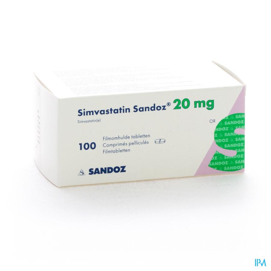 Simvastatin Sandoz Comp 100 X 20mg