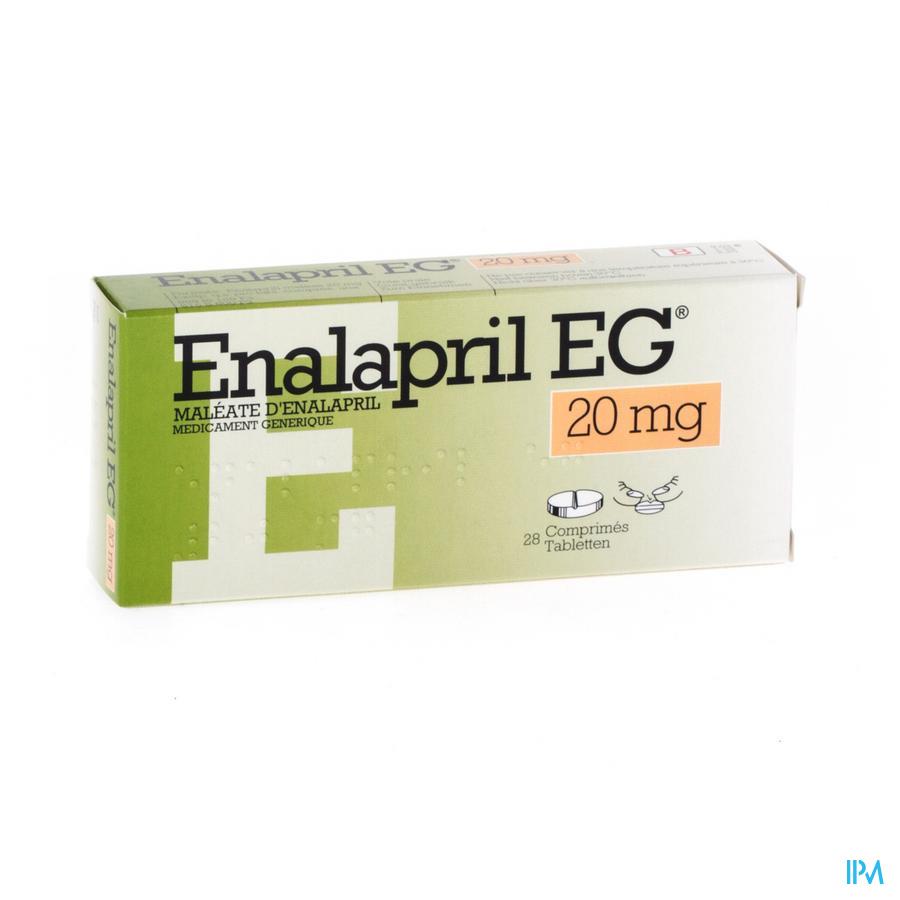 Enalapril Eg Comp. 28 X 20mg