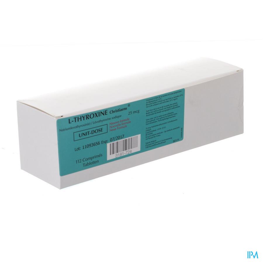 l-thyroxine 112 Tabl 25 Mcg Ud Nm