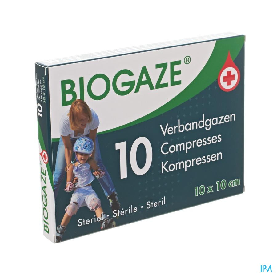Biogaze Verbandgaas Geimpregneerd 10x10cm 10
