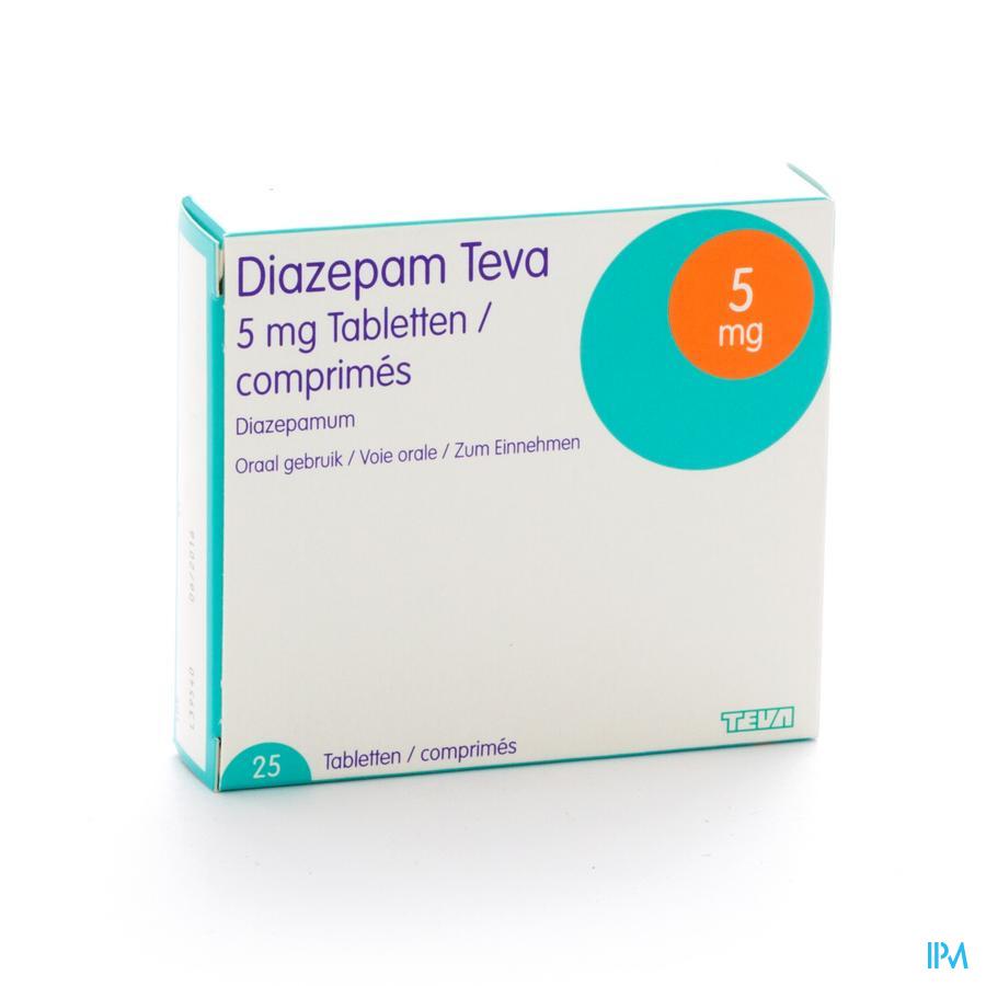 Diazepam Teva Tabl 25x 5mg