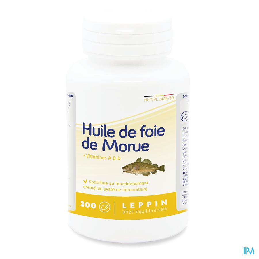 Leppin Huile Foie Morue Caps 200