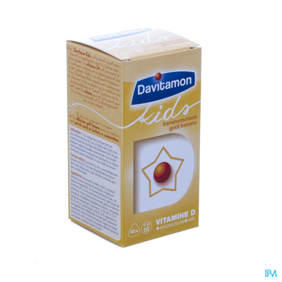 Davitamon Kids Banaan 60 Tab V1