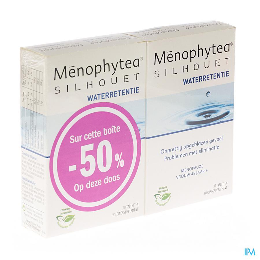MENOPHYTEA SILHOUETTE VOCHTRETENTIE DUO COMP 2X30