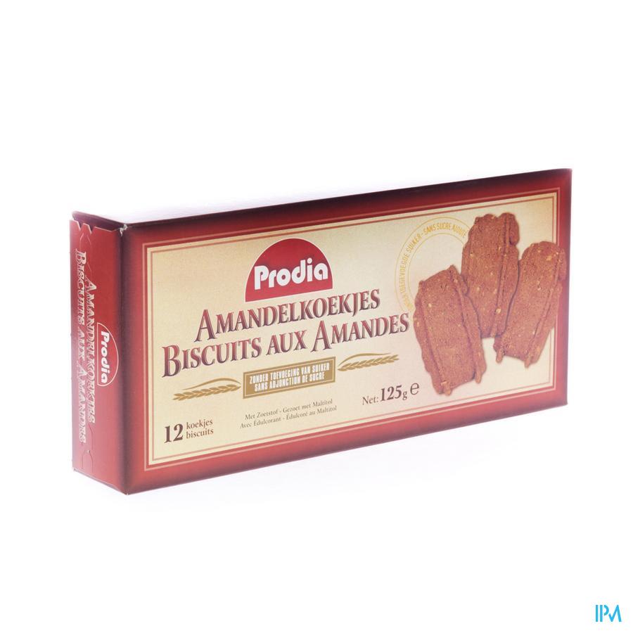 Prodia Amandelkoekjes+zoetstof Maltitol 125 gr 6008