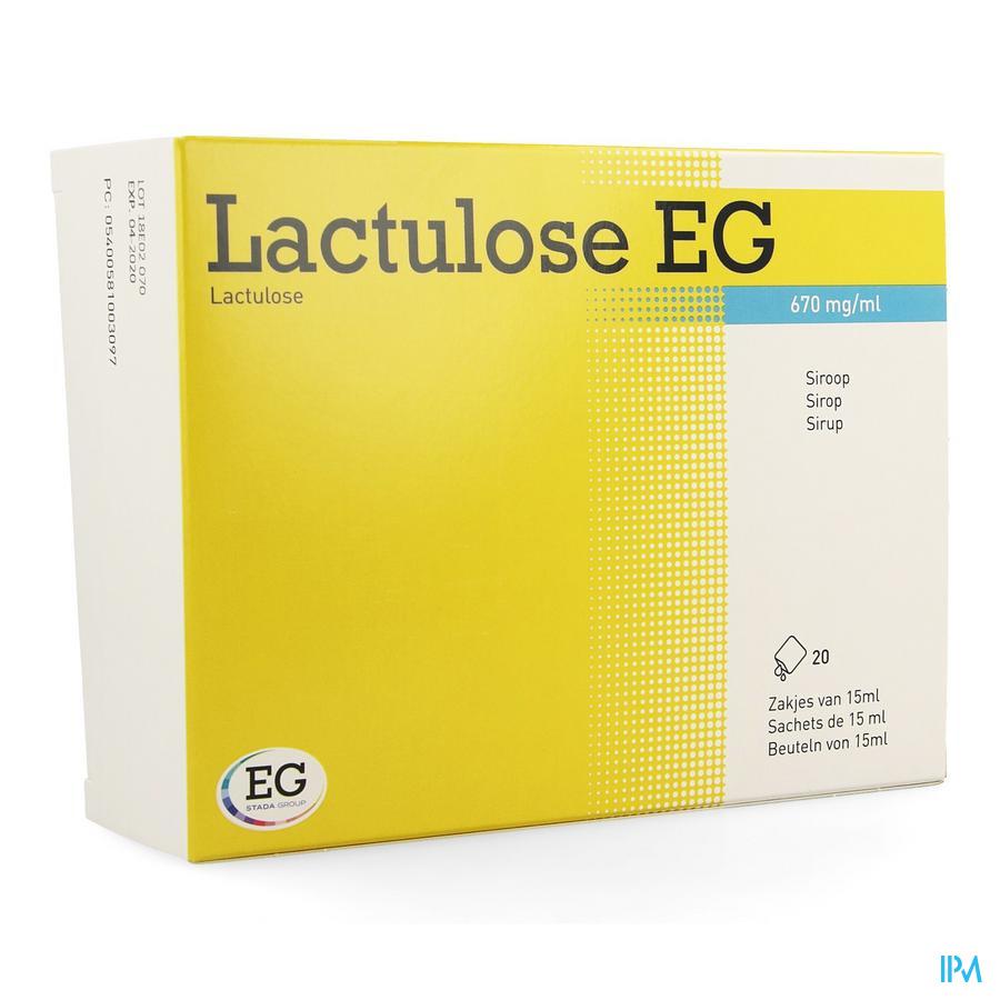 Lactulose EG Sachets Sirop 20x15 ml670/ml