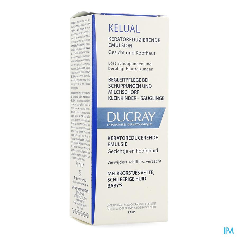 Afbeelding * Ducray Kélual Emulsie tegen Seborrheïsche Dermatitis van Gelaat en tegen Melkkorstjes bij Baby's Tube 50 ml.